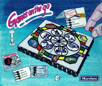 illustration of Conceptual illustration of a board game