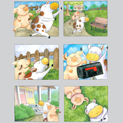 illustration of 2D, Character Development, Animals, Early Childhood, School Age, Tweens