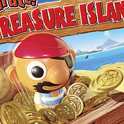 illustration of Boxed game cover artwork for Pop-Up Pirate Treasure Island.