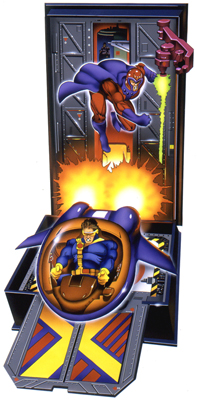 illustration of One of a series, this illustration was for the front of Marvel's Xmen Adventure Box series done through Howard Temner Design, in New York.