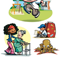 illustration of Illustration, Advertising, Packaging Illustration, Point of Sale, Print, Cartoon, Humorous, Board Games, Interactive, Toys, Early Childhood, School Age