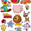 illustration of Spot illustrations from a series of simple puzzles for preschoolers.