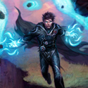 illustration of Game card packaging art featuring Jace the Planeswalker.