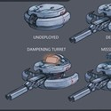 illustration of Drone Turret concept art