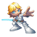 illustration of Cartoon Luke Skywalker (Star Wars)