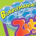 "illustration of ""BubbleMania"" brand identity and package design system for Spin Master Toys."
