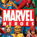 "illustration of ""Marvel Heroes"" package design system development for Marvel Entertainment, Inc. This package design system established the standards for the retail packaging for all ""Marvel Heroes"" licensed products."
