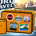 illustration of Word Travels Game Loading Screen Design. Illustrations and 3D Modelling. (Excluding background wallpaper.)