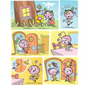 illustration of 2D, Illustration, Comics, Humorous, Early Childhood, School Age, Tweens