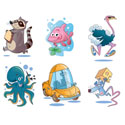 illustration of 2D, Illustration, Character Development, Animals, Comics, Humorous, Early Childhood, School Age, Tweens