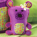 illustration of Charatceter development of teddy bear for a sewing kit for girls.