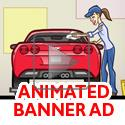 animation of Art assets for this animated banner ad.  To see larger art and the .swf banner at regular size, go to http://greghardin.net/Website/ConsumerProducts/IB-Garage-Door.html