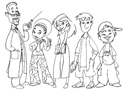 illustration of Here you see the result of character development for the KidFuel crew, including their science teacher/mentor.