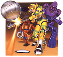 illustration of Sega contacted me to do their Sega Genesis release of Super Baseball 2020, and wanted a futuristic take on the game, and a robot umpire.