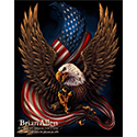 illustration of This is a patriotic design in which I have an American Eagle caring the American Flag in his talons.