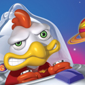 illustration of Illustration for Cosmic Chicken game box